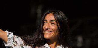 Moroccan singer Hindi Zahra at Pause Guitare, in July, 2015.
